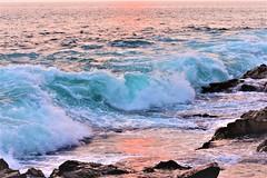 Late in the day (thomasgorman1) Tags: reddish water shore beach rocky lavarock sundown tide waves nature nikon outdoors view scenic kona hawaii island