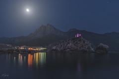 Porto (C☺rsica) (Mathulak) Tags: porto corsica corse night nuit moon lune tour génoise seascape mathulak d750 1424