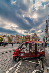 Touring in the city (Vagelis Pikoulas) Tags: city cityscape urban wroclaw poland car square old tokina town view canon 6d sky cloudy may spring 2018 europe polish