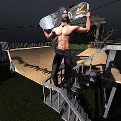 Never Too Old To Skate / Syndicate Sunday (Ylva Korhonen) Tags: syndicate sunday logo nivaro puppet master poses skater skateboard skate ramp half pipe exile deadwool distorted dreams belleza jake sale discount unisex men male dude guy second life secondlife