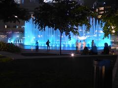Background (m_artijn) Tags: fountain klcc park suria blue kuala lumpur mys light background night