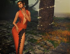 Nostalgia (kare Karas) Tags: woman lady femme girl girly swet elegant pretty beauty mesh bento virtual avatar secondlife game fun nature sunlight gown jewelry hair colors event fashion style nostalgia jumo designershowcaseevent june spring
