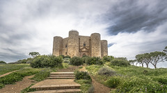 Castel del Monte (DC P) Tags: castel del monte castle citadel world heritage italy apulia cloud clouds hill tree sky ngc adventure angle a7rii architecture beautiful color dof explore fantastic green historic historical landscape outdoor outside old pov panorama serene travel trekking view wideangle mystic symmetry tower