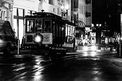 Uncle Vito (Jeremy Brooks) Tags: bw blackwhite blackandwhite cablecar california night sanfrancisco sanfranciscocounty transit usa