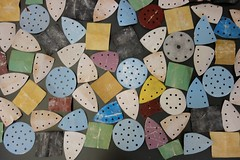 verzamelen (marianbijlenga) Tags: sandpaper schuurpapier collage colorstudy