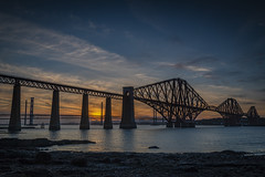 Sunset in South Queensferry (CatClick16) Tags: sunset forthbridges riverforth