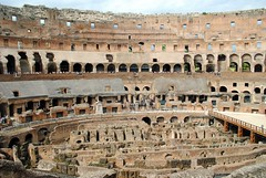 Colosseum steep rake (zawtowers) Tags: rome roma italy italia capital city historic roman empire heritage monday 28 may 2018 summer holiday vacation break warm sunny colosseum flavian ampitheatre gladiatorial shows executions theatre round circular steep rake guided tour highest levels