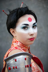 Katana cosplayer at ExCeL London's MCM Comic Con, May 2018 (Gordon.A) Tags: london docklands londondocklands excel excellondon excellondonexhibitioncentre moviecomicmedia mcm con convention comicbookconvention comiccon mcmcomiccon mcmlondon comicconlondon comicconlondonexcel 2018 may2018 mcm2018 creative makeup costume culture lifestyle style katana dcbombshell dcbombshells dccomics samurai samuriawarrior superhero superheroine cosplay cosplayer cosplayportrait cosplayphotography festival event eventphotography amateur pose posed portrait portraitphotography streetportrait streetphotography colourportrait colourstreetportrait naturallight naturallightportrait canon eos 750d canoneos750d digital sigma sigma50100mmf18dc
