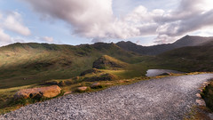 Homeward bound. (Einir Wyn Leigh) Tags: landscape mountains walk track path light clouds wales sunlight outdoors nikon sigms love peak colorful uk trekking peaceful