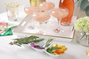 Garnishes and Toothpicks (ProFlowers.com) Tags: frosé party rosé wine toothpicks rosemary lavender mint peach peaches slices tray serving carnations eucalyptus glass glasses coupe cocktail cocktails