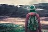 Iceland Adventures ! (Hëllø i'm Wild) Tags: analog film 35mm olympusom10 lomochromepurplexr100400 iceland adventures travel trip nature outdoor hike purple hverir solfataras intothewild selfportrait backpack icelandadventures