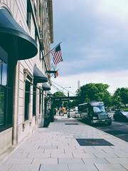 w pride in dc (citizensunshine) Tags: dc washingtondc washington sidewalk street car cars monument washingtonmonument w whotel hotel flag flags rainbow pride gay gaypride awning