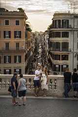 Selfie in Rome (Andrea di Florio (10.000.000 views!!!)) Tags: roma italia selfie via dei condotti shopping rome italy tramonto sunset street capture cattura nikon d600 70200 bianco people turist turisti enjoy travel viaggio vacanza