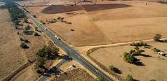 Intersection (OzzRod) Tags: dji phantom3a quadcopter drone aerial farmland rural blacksoilplains road oxleyhighway gunnedah nsw