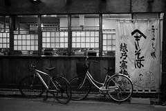 night lane@Jinbocho, Tokyo 3 (Amselchen) Tags: bicycle night city light tokyo japan mono monochrome blackandwhite bnw trip travel fujifilm fujinon xt2 fujifilmxt2 xf35mmf14r