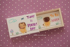 Today is a perfect day,Miniatures matchbox card,Valentine's Gift,cheer up box,Gift for her/him,Girlfriend gift,boyfriend gift,matchbox art (charles fukuyama) Tags: lion handpainted unique handmade messagecard dollsandminiatures homedecor personalizedgift custom anniversary toy lovecard テディベア christmas kikuikestudio longdistancegift valentineday holidaycard greetingcard matchboxmessage funnycard