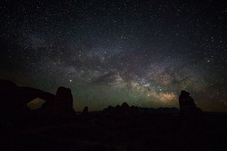 My last night in Arches National Park. Never get to see sky's like this where i live!