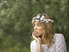 Wonderoots (kinojam) Tags: portrait retrato belleza beauty corona flores flowers primavera spring fashion kino kinojam canon canon6d