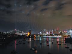 vivid Sydney 2018 (bart.kwasnicki) Tags: sydney australia cityscape nightscape night bridge architecture water longexposure light boats sky skycrapers skyline