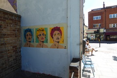 Pegasus stencil, Islington (duncan) Tags: graffiti islington streetart pegasus stencil madonna