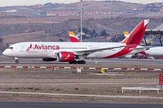 N794AV Avianca B787-8 Madrid Barajas