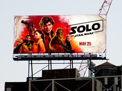 Solo A Star Wars Movie Billboard NYC 3000 (Brechtbug) Tags: solo a star wars movie billboard alden ehrenreich han donald glover lando calrissian joonas suotamo chewbacca woody harrelson tobias beckett may 2018 new york city portrait portraits eight story space opera film science fiction scifi robot metal man adventure galactic prototype design metropolis standee nyc poster billboards posters 34th st herald square ad ads advertisement advertisements 05242018