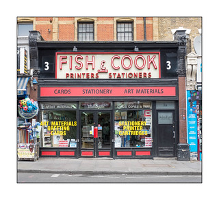Classic Shop Signage, North London, England.