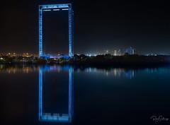Dubai Frame impression (Siebring Photo Art) Tags: burjkhalifa cayantower centralparktower dubai dubaiframe dubaiskyline emirates uae mirrorimage skyline verenigdearabischeemiraten ae