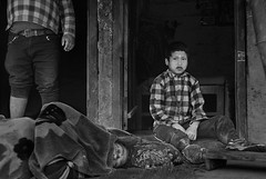 sleepy grandfather (trying to catch up again !!!) Tags: nepal nepali nepalikid nepaliman travel streetphotography streetlife bw blackandwhite monochroom pokhara sleeping sleepy ivodedecker outdoor outside