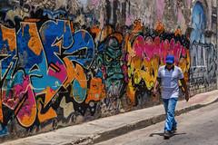 Street Rainbow in Getsemani (Packing-Light) Tags: cartagena colombia nikon southamerica getsemani art streetart graffiti street walking day colorful