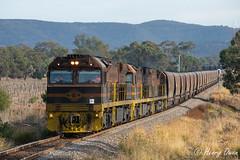 Ulan'd (Henry's Railway Gallery) Tags: xrn018 xrn030 xrn016 xrnclass ge diesel goninan ugl c44aci gwa geneseeandwyomingaustralia coaltrain freighttrain ul304 ulan sandyhollow