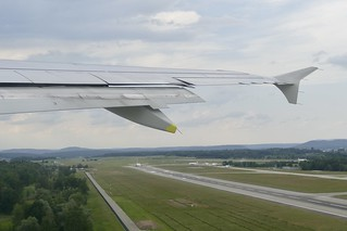 take off at ZRH Zurich Airport Switzerland