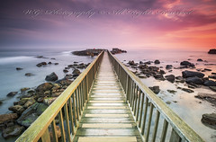"""Pan's Rock bridge in Ballycastle"" (W.G. Photography) Tags: ballycastle bridge pan rocks countyantrim northernireland nature natural sky sunrise skyline colours"