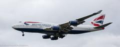 British Airways 747 landing at London Heathrow (Alaskan Dude) Tags: travel europe england london londonheathrowairport heathrow myrtleavenue planespotting planewatching airplanes aviation jets airlines airliners