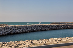 Breakwater at the Marina, Abu Dhabi (Jim 03) Tags: abu dhabi capital populous united arab emirates largest uaes seven persian gulf oil exports commerce towers mega centres dhow seampi imperial college breakwater jim03 jimhoffman jhoffman jim wwwjimahoffmancom wwwflickrcomphotosjhoffman2013