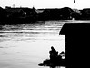 A morning in Arut River (A. Yousuf Kurniawan) Tags: river riverlife riverscape riverside silhouette blackandwhite monochrome minimalism minimalist streetphotography urbanlife borneo kalimantan pangkalanbun water waterfront composition contrast morning sunrise