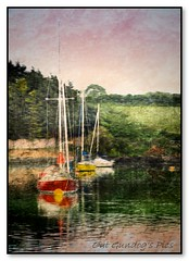 Flatwater Haven (Oul Gundog) Tags: whiterocks comber co down northern ireland ulster uk flatwater calm haven boats strangford lough sailing oil mpainting effects