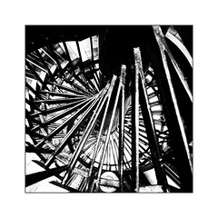 Colimaçon (Jean-Louis DUMAS) Tags: escaliers noir noiretblanc noretblanc bw black white abstract artist abstrait abstraction art artistic artistique