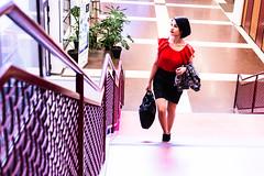 in a stairs of the university of Kuopio (VisitLakeland) Tags: kuopio finland business look meeting congress liikeelämä kokous tapaaminen palaveri kongressi convemtion