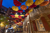 Up, Up and Away (Kevin Tataryn) Tags: umbrella decor decoration whimsical colour city quebec canada quebeccity old historic district nikon d500 tokina 1116 wide angle