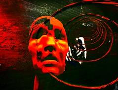 Fate/Artist:ThedaTammas (THX 4million View - Bamboo Barnes - Artist.Com) Tags: thedatammas face red green hand surreal art installation digitalart virtualart secondlife texture vivid light bamboobarnes