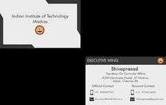 Business Card (vishal2007upendran) Tags: instidesign executivewing iitm iit madras design business card template