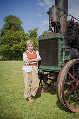 Land Girl (aljones27) Tags: landgirl rural agriculture girl woman female young paraffinengine museumofeastanglianlife stowmarket reenactors timelineevents