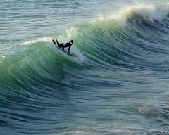 Surfing (Prayitno / Thank you for (12 millions +) view) Tags: konomark sport activity action surf surfing southern california san clementa beach pacific ocean shore line coast coastal sea surfboard day time outdoor recreation selancar laut wave waves ombak