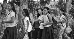Girls, Girls, Girls (Beegee49) Tags: street girls young filipina walking smiling laughing dos hermanes negros occidental philippines