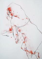 P1018241 (Gasheh) Tags: art painting drawing sketch portrait figure girl line pen color pastel gasheh 2018