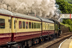 Mainline_2018_06_02_027 (Phil_the_photter) Tags: steam steamengine steamloco steamrailway 34046 braunton 34052 lorddowding wales penmaenmawr anglesey valley saltney rafvalley rhyl conwyriver northwalescoastexpress westcountry battleofbritain