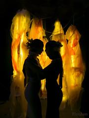 Siluetas (kinojam) Tags: retrato portrait contraluz silueta silhouette oscuridad dark fuego fire modelos girls kino kinojam canon canon6d