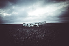 Neverwhere (lu★) Tags: iceland plane wreck abandoned dark eerie black sand