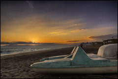 San Miguel de cabo de Gata (bit ramone) Tags: almería andalucía cabodegata sanmiguel beach playa mar sea mediterráneo boat barca arena sand viajes travels bitramone pentax pentaxk3ii sunset puestadesol